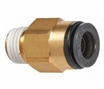 Straight Male Connector 3/8^ Tube X 1/4^ NPT (2)